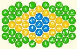 Pictogrammen van de zomersporten Stock Foto