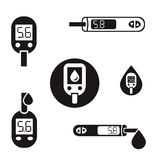 Pictogrammen 08 A van diabetesglucometer Royalty-vrije Stock Foto's