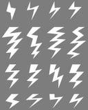 Pictogrammen van donder vector illustratie