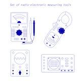 Pictogrammen van elektro meetinstrumenten Vector illustratie Royalty-vrije Stock Fotografie