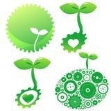 Pictogrammen van groen Stock Fotografie
