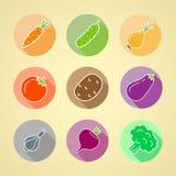 Pictogrammen van groenten Stock Fotografie