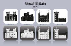 Pictogrammen van Groot-Brittannië stock illustratie