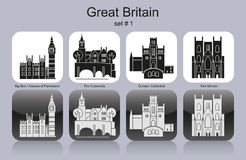 Pictogrammen van Groot-Brittannië vector illustratie