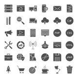 Pictogrammen van het codage de Stevige Web royalty-vrije illustratie