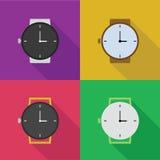 Pictogrammen van horloges Stock Foto