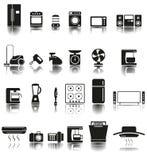 24 pictogrammen van huistoestellen Stock Foto's