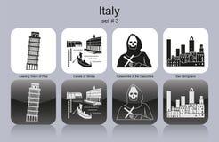 Pictogrammen van Italië Stock Fotografie