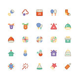 Pictogrammen 6 van Kerstmisvectoren Stock Foto's