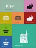 Pictogrammen van Kiev Royalty-vrije Stock Foto's