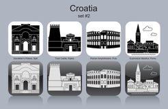 Pictogrammen van Kroatië vector illustratie