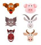 Pictogrammen van landbouwbedrijfdieren Stock Afbeelding