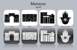 Pictogrammen van Marokko Royalty-vrije Stock Fotografie