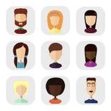 Pictogrammen van mensen in een vlakke stijl Royalty-vrije Stock Foto