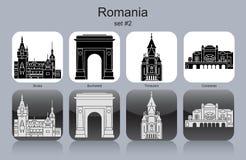Pictogrammen van Roemenië Stock Foto's