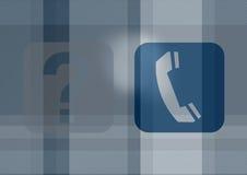 Pictogrammen van telefoon en vragen royalty-vrije illustratie