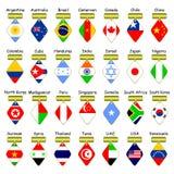 Pictogrammen van vlaggen. Stock Afbeeldingen