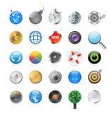 Pictogrammen voor cirkels Royalty-vrije Stock Foto's