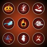 Pictogrammen voor Halloween Royalty-vrije Stock Fotografie
