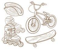 Pictogrammen voor het extreme ski?en vector illustratie