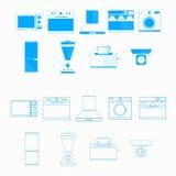 Pictogrammen voor huishoudenmateriaal Royalty-vrije Stock Afbeeldingen
