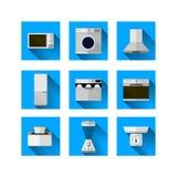Pictogrammen voor huismateriaal Stock Foto