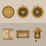 Pictogrammen voor klokken Stock Afbeelding