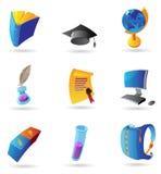 Pictogrammen voor onderwijs Stock Afbeelding