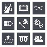 Pictogrammen voor reeks 19 van het Webontwerp Stock Afbeeldingen