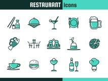 Pictogrammen voor restaurant Royalty-vrije Stock Foto