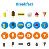 Pictogrammen voor snel voedsel Royalty-vrije Stock Foto's