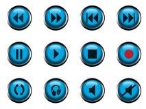 Pictogrammen voor speler Stock Afbeeldingen