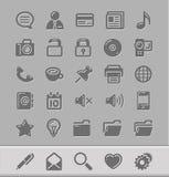 Pictogrammen voor uw blog Stock Foto