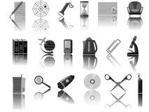 Pictogrammen voor Web Stock Afbeeldingen