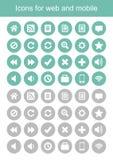 Pictogrammen voor Web en mobiel, pictogrammenvector Stock Foto