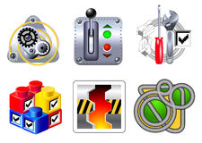 Pictogrammen voor Web en toepassingen Royalty-vrije Stock Afbeeldingen