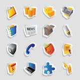 Pictogrammen voor zaken Royalty-vrije Stock Afbeelding