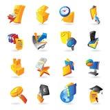 Pictogrammen voor zaken en financiën vector illustratie
