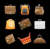 Pictogrammen voor zakken Stock Fotografie