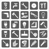 Pictogrammenbouw en reparatie Royalty-vrije Stock Afbeeldingen