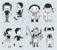 Pictogrammenkinderen Jongens en girlsVector Illustratie stock foto
