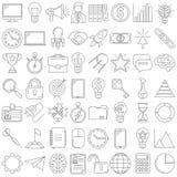 pictogrammenlijn Stock Afbeeldingen