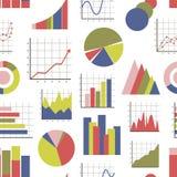 Pictogrammenpatroon de bedrijfs van Infographic stock illustratie