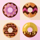 Pictogrammenreeks donuts Royalty-vrije Stock Foto