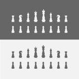 Pictogrammenschaakstukken De reeks van het schaak Stock Fotografie