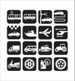 Pictogrammenvervoer en technologie Royalty-vrije Stock Foto
