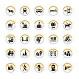 Pictogrammes d'aéroport Photo libre de droits