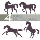 Pictogrammes de cheval Photos libres de droits