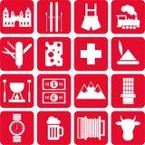 Pictogrammes de la Suisse Photographie stock libre de droits