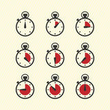 Pictogrammes de temps Image libre de droits